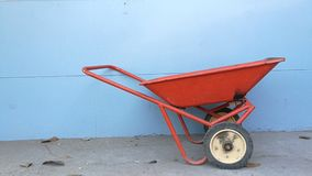 Waste cart. In hospital stock images