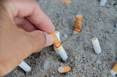 Waste from ciggarette Royalty Free Stock Photo