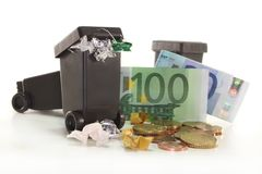 Waste collection fees Royalty Free Stock Images