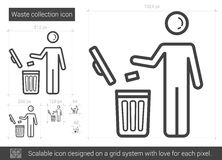 Waste collection line icon. Stock Image