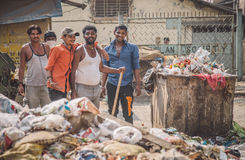waste collectors Royalty Free Stock Images