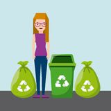 Waste concept design. Illustration eps10 graphic Royalty Free Stock Images