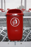 Waste container. The new red waste container Royalty Free Stock Photography