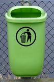 Waste container. The green waste container is empty Stock Image