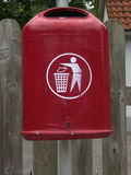 Waste container. The old red waste container Royalty Free Stock Images