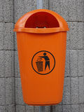 Waste container. The new orange waste container Stock Image