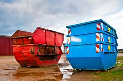 Waste container Royalty Free Stock Photos