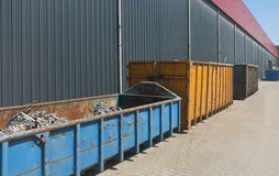Waste containers Stock Image