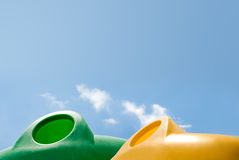 Waste containers. Against a serene blue sky Royalty Free Stock Images
