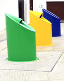 Waste disposal bins Royalty Free Stock Photography