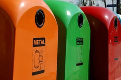 Waste disposal bins Stock Photos
