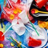 Waste disposal concept. Plastic rubbish background. Waste disposal concept royalty free stock images