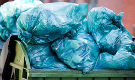 Waste disposal. On the streets Royalty Free Stock Images