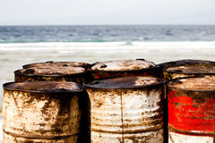 Waste drums Royalty Free Stock Images