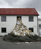 waste fönster Fotografering för Bildbyråer