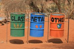Waste garbage bins Stock Photo