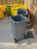 Waste and garbage containers Royalty Free Stock Images