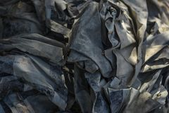 Waste from garbage that is degraded by natural means. It is difficult to remove and makes more space available for storage royalty free stock images