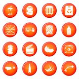 Waste and garbage icons vector set Royalty Free Stock Photography