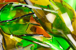 Waste glass.Recycled. Stock Photos