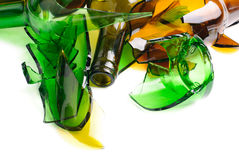 Waste glass.Recycled. Stock Photo