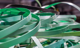 Waste green plastic packaging tape Stock Photography
