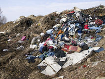 Waste heap on junkyard Stock Image