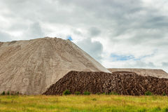 Waste heap. Near the mines in the Urals. Russia royalty free stock photos