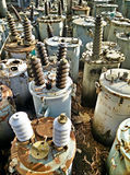 Waste high voltage transformer Stock Images