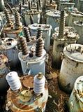 Waste high voltage transformer Stock Images