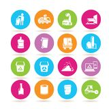 Waste icons Royalty Free Stock Images