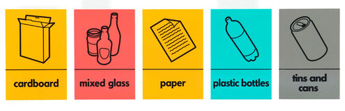Waste icons Stock Images