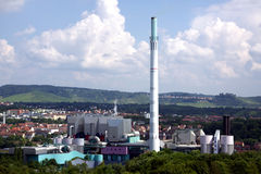 Waste incineration. The plant is a waste incineration plant in City Stuttgart Stock Photo