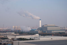 The waste incineration factory in Jiading district Shanghai Royalty Free Stock Photography