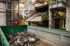 Waste incineration plant Royalty Free Stock Image