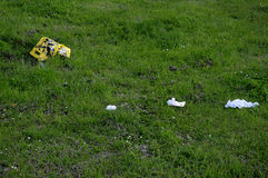WASTE AND LITER IN NATURE. Kastrup/Copenhagen /Denmark - 12 June  2017.  Denmak`s does not have liter or wste fine for those thorugh waste and liter in nature or Royalty Free Stock Photo