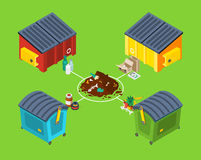 Waste Management Isometric Poster Royalty Free Stock Images