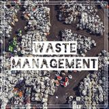 Waste Management. Recycling. View landfill bird`s-eye view. Land Stock Image