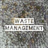 Waste Management. View landfill bird`s-eye view. Landfill for wa Stock Images