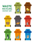 Waste managment flat concept Royalty Free Stock Photography