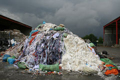 Waste material. On a stormy background Stock Photos