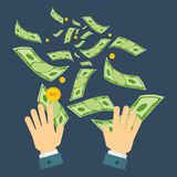 Waste of money hand Stock Images