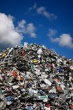 Waste mountain Stock Photo