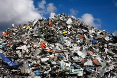 Waste mountain Royalty Free Stock Photo
