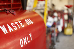 Waste oil container Royalty Free Stock Images