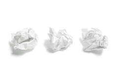 Waste Paper Balls Royalty Free Stock Image