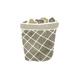 Waste paper basket retro cartoon Stock Photo