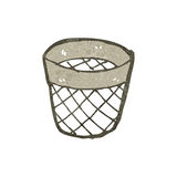Waste paper basket retro cartoon Royalty Free Stock Photography