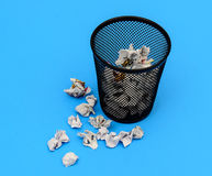 Waste paper basket Royalty Free Stock Images