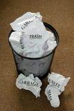 Waste Paper Bin Royalty Free Stock Photos